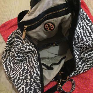 AUTHENTIC TORY BURCH PRINTED CANVAS BAG