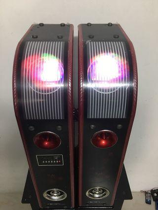 Crown system karaoke usb lights all in one 卡拉OK音響擴大喇叭組合