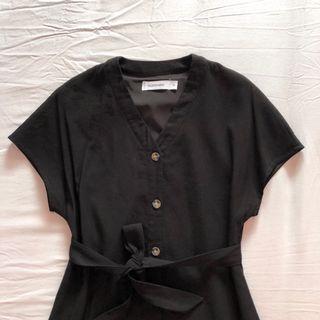 TEM Hayli button through belted dress