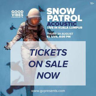 2 Tickets to Snow Patrol concert