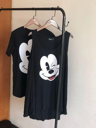 Lovfee Disney 米奇 米妮 米老鼠 連身洋裝 T恤 情侶裝 親子裝 情人節禮物