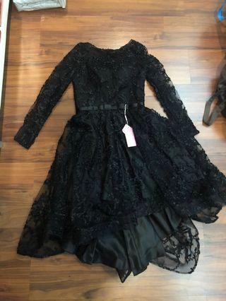 Brand new with rag Formal Black Lace Dress with Tulle