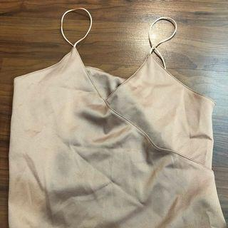 Brand new champagne strap party blouse