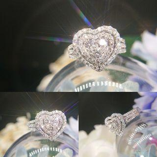 💗拼鑲巨心形鑽石戒指