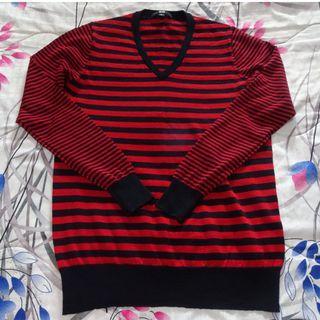 🚚 Uniqlo long-sleeved striped cardigan