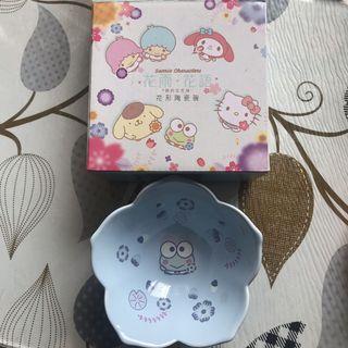 711 花形陶瓷碗 hello Kitty keroppi