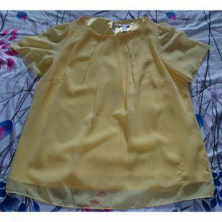 🚚 Colette yellow chiffon blouse UK 18