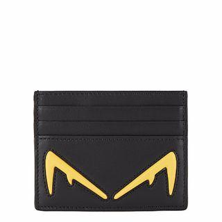 Fendi Black leather card holder