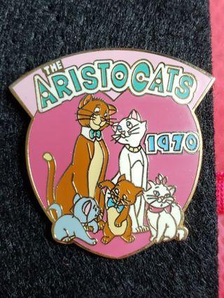 Cat貓 marie aristocats disney pin徽章