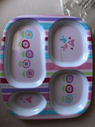 Plate with food partition for toddler