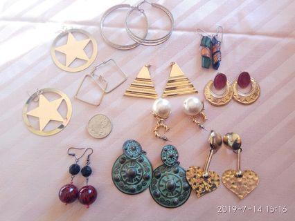 10 pairs statement earrings