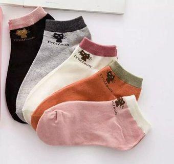 5 pairs cute ankle socks