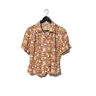 """MIHO"" Vintage Abstract Shirt"