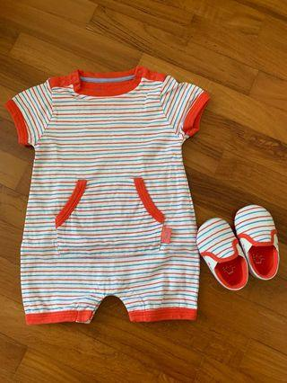 Chateau De Sable Romper Suit with Matching Shoes