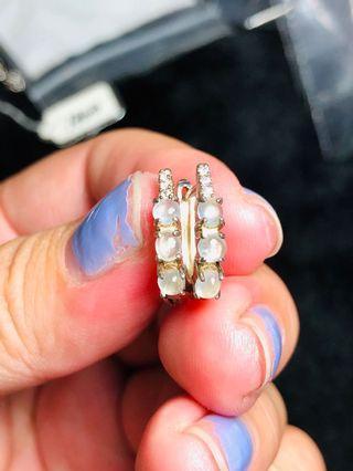 天然緬甸翡翠耳環