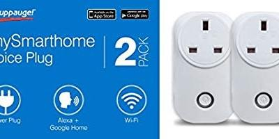 WiFi Smart Plug 2Pack, mySmarthome Voice Plug 2 Pack model 01667, Works with Amazon Alexa (Echo and Echo Dot), Google Home, No Hub Required, Control your Devices from Anywhere