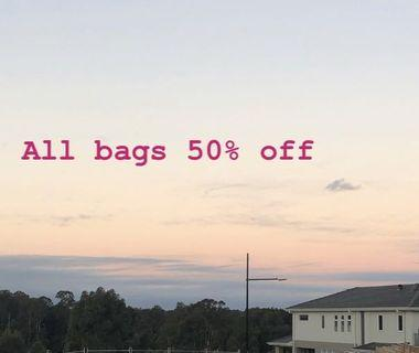 ALL BAGS LISTED 50% OFF