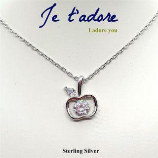 Silver 925 necklace with Apple Charm