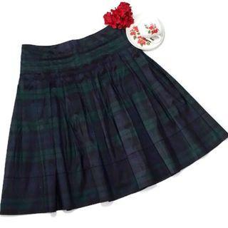 TALBOTS Silk Plaid Skirt Size 2