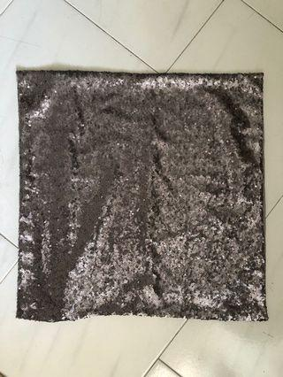 6 pcs Grey/Silver Sequins Cushion Covers