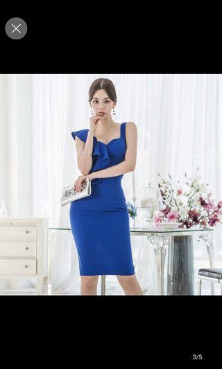 Blue Dress sexy office wear