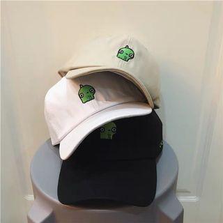 韓版 卡通棒球帽子女夏天可愛外星人學生鴨舌帽 太陽帽