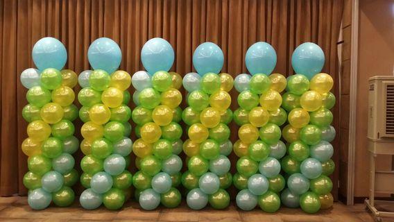 Set of 6 Balloon Pillars