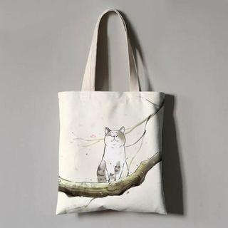 🚚 Design 1 : Calm Cat Tote Bag