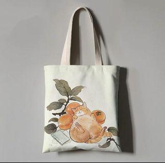 🚚 Design 2: Full Cat Tote Bag