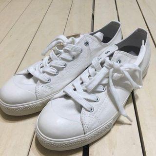 無印良品 MUJI 休閒鞋 帆布鞋 撥水加工 柔白