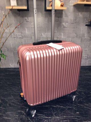 18吋鏡面拉鏈款行李箱/玫瑰金/黑色/銀色/香檳金