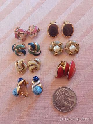 Bundle clip on earrings
