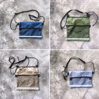 🚚 縫目工作室 fengmu_studio 防水尼龍網袋側背包 隨身小包 單肩包 斜背包 斜挎包 小包 手工包 手作包
