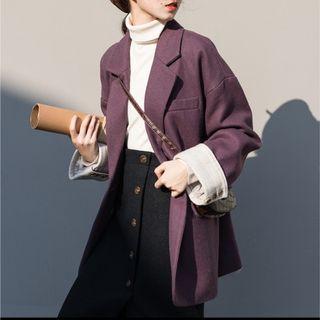🚚 紫色西裝外套 #轉轉臉紅紅