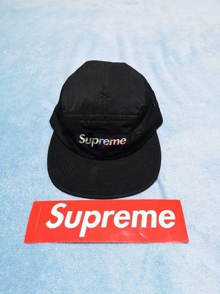 Supreme Holographic Logo camp black