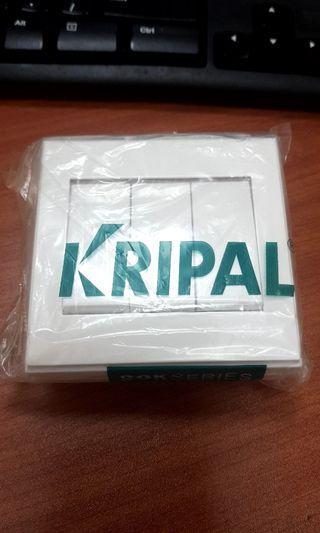 🚚 Kripal 3 gang 1 way switch