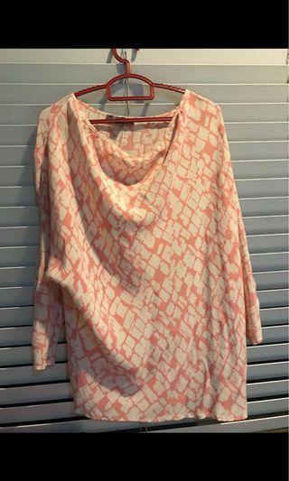 🚚 Forever 21 Pink Blouse 100% SILK #MRTRaffles