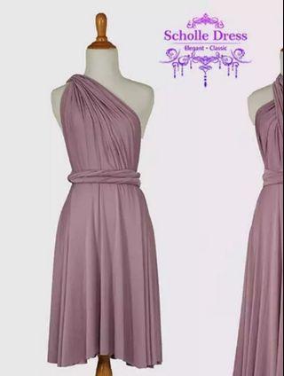 Retro Purple Infinity Dress