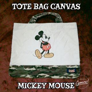 Tote Bag Canvas Fabric Mickey Mouse