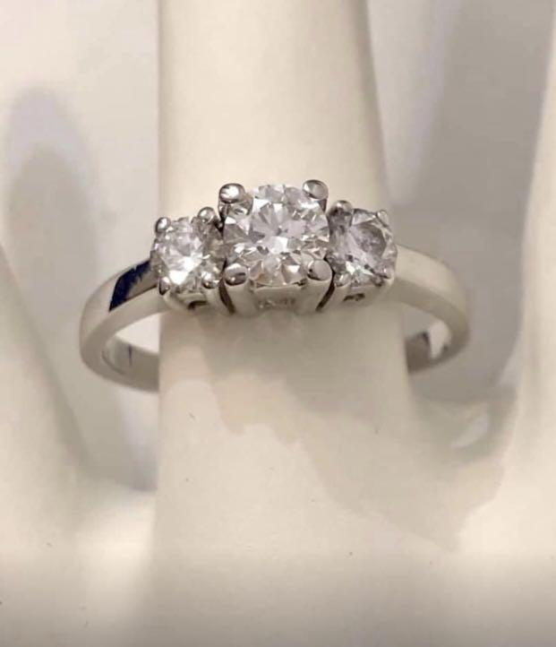 14k white gold diamond engagement ring *Beauty // Certified at $4,700