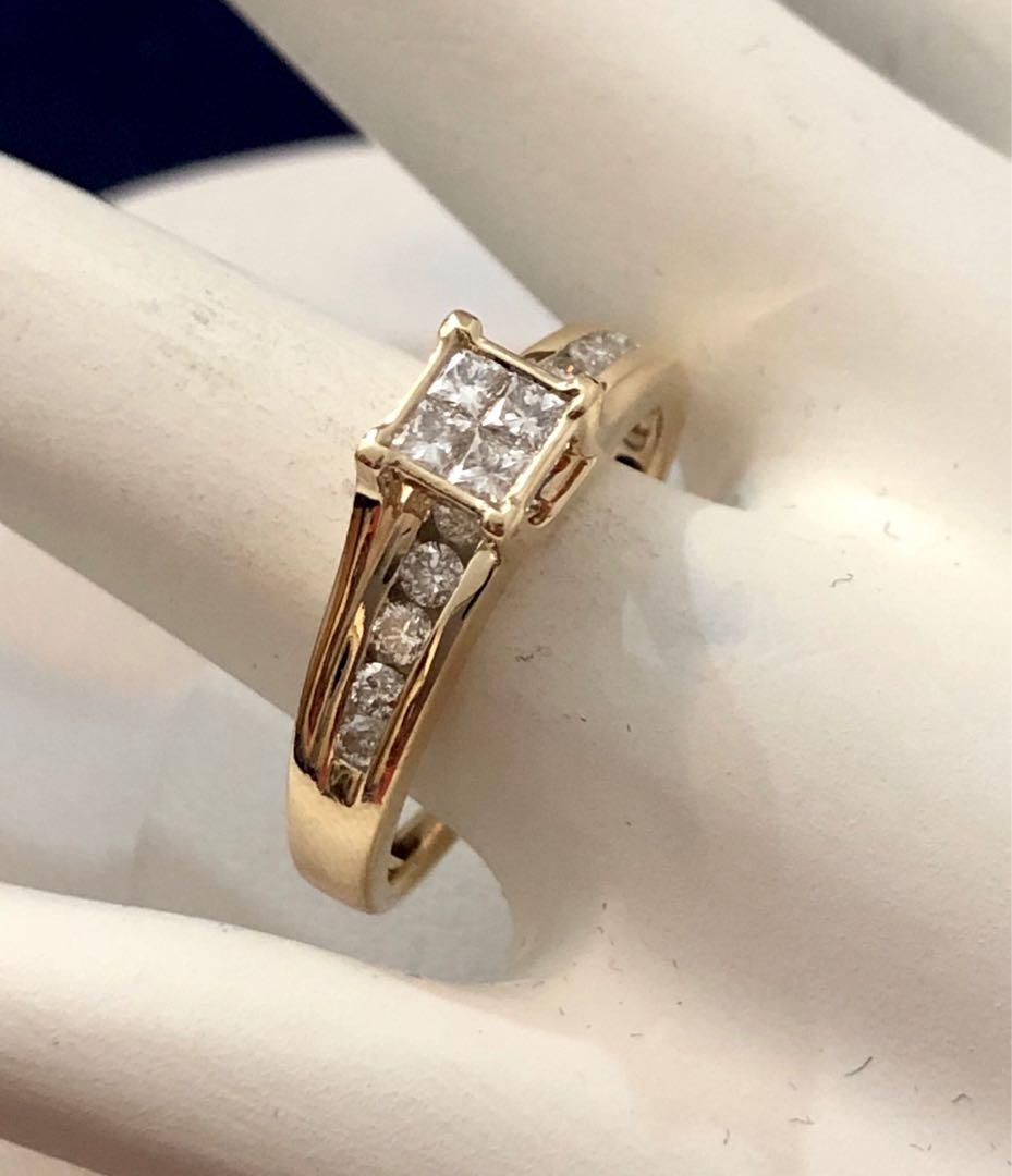 14k yellow gold diamond engagement /promise ring *Compare at $1,900