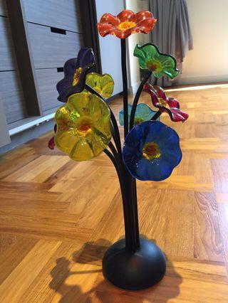 blow Glass flower 🌺 ornamental display
