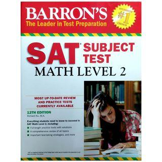 Barron's study guide for the SAT subject test in Math level 2 with 6 practice tests