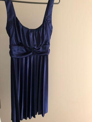 'Crossroads' Navy Cocktail Dress Size L