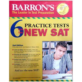 Barron's Study guide for the SAT with 6 practice tests
