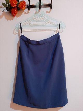 [Baju Kerja] Blue Skirt / Rok Biru
