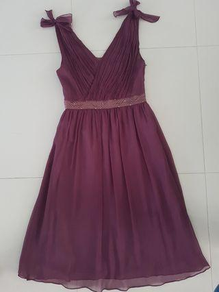 Maroon Evening/Party Dress