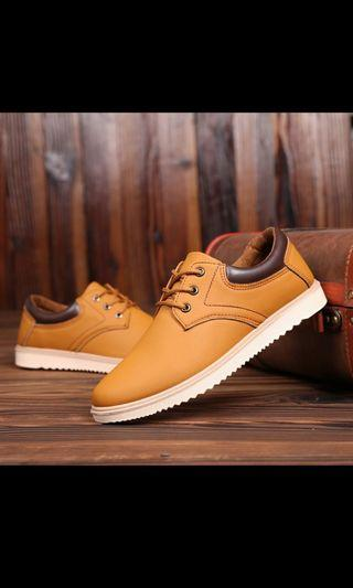 Male Yellow Brown Casual Shoes