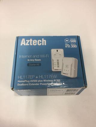 🚚 Used but not abused Aztech HL117EP + HL117EW Dual band Extender Powerline for sale