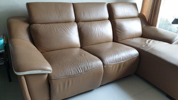 Excellent condition L-shape leather sofa
